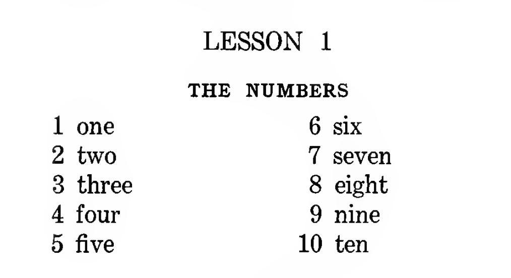 Aprende los números en inglés